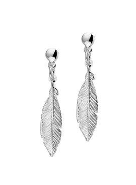 Joboly Jewelery Earrings Feather - Ladies - stud earrings 925 Silver