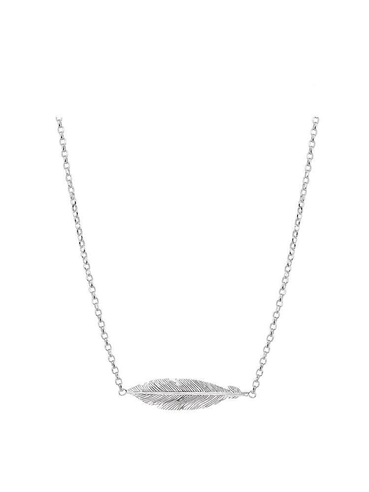 Joboly Jewellery Feather Halskette - Damen 925er Silber