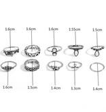 Joboly Trendy boho bohemian style ring set