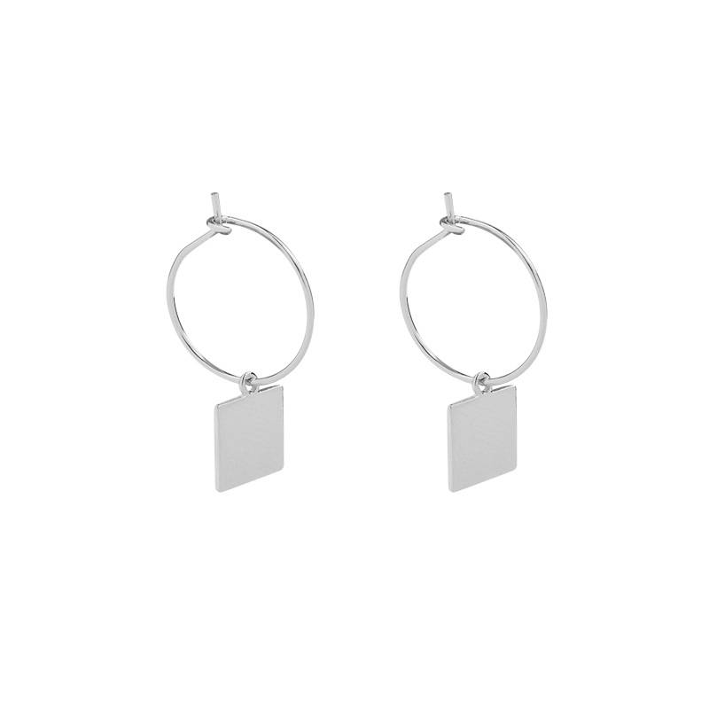 Joboly Earrings with a square