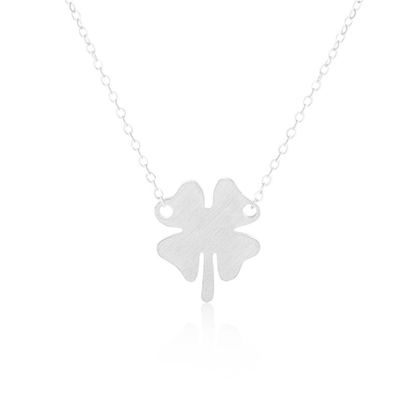 Joboly Leaf clover necklace