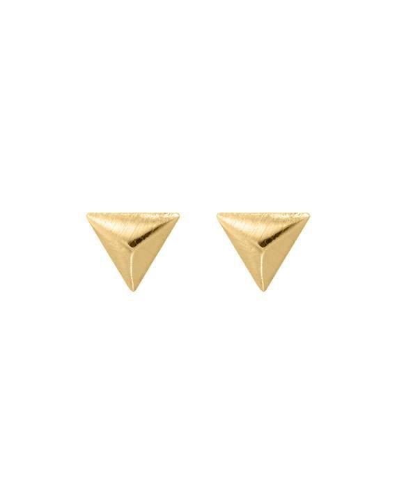 Zeer kleine subtiele driehoek oorbellen