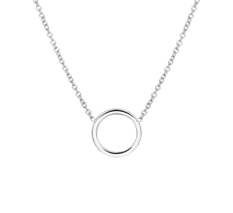 Joboly Sieraden Cirkel Ketting - Dames 925 zilver