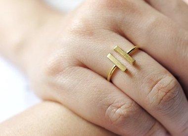 Minimalistische Ringe