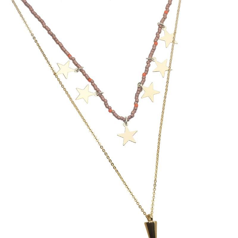 Joboly Multilayer star necklace