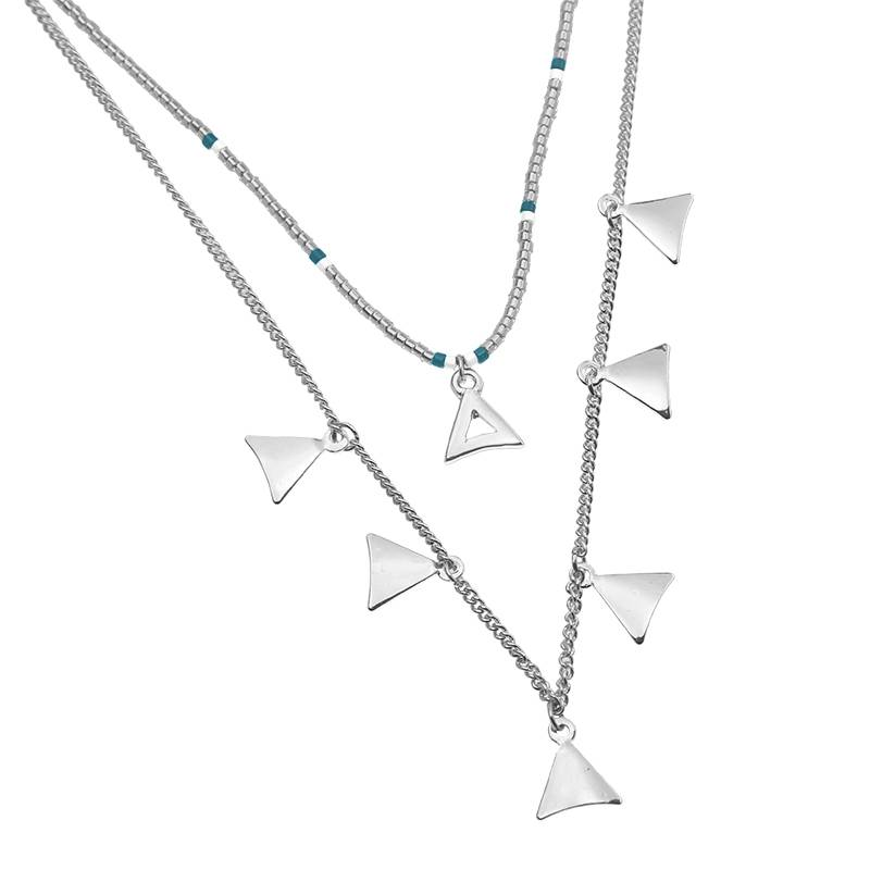 Joboly Mehrschichtige Dreieck-Halskette