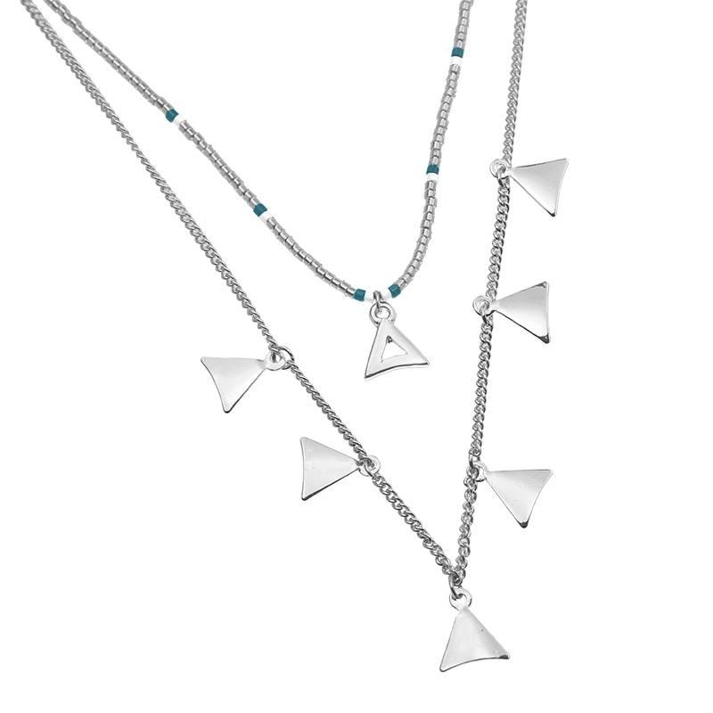 Joboly Multilayer driehoek ketting