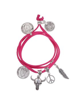 Lovelymusthaves Ibiza boho multilayer bracelet with coin charms