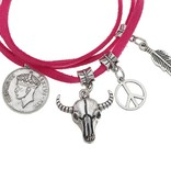 Joboly Ibiza boho multilayer bracelet with coin charms