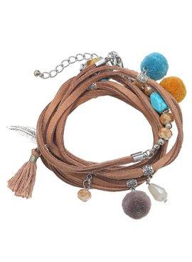 Ibiza multilayer boho bracelet with charms