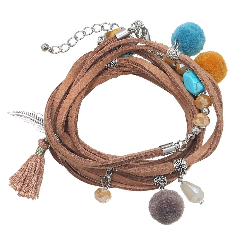 Lovelymusthaves Ibiza multilayer boho armband met bedels