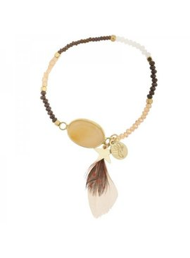 Lovelymusthaves Ibiza Lovelymusthaves bracelet with feather