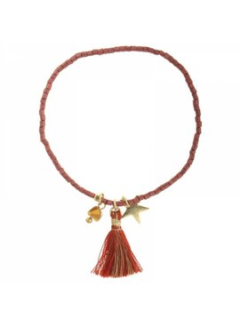 Lovelymusthaves Ibiza beaded bracelet with charms