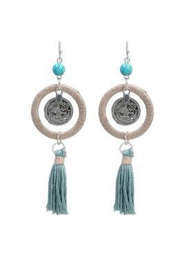 Trendy ibiza boho earrings with tassel