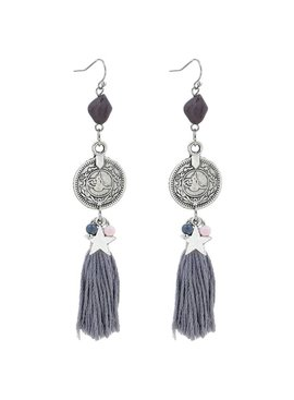 Trendy ibiza boho earrings with charms