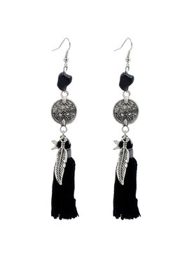 Trendy boho ibiza earrings with charms