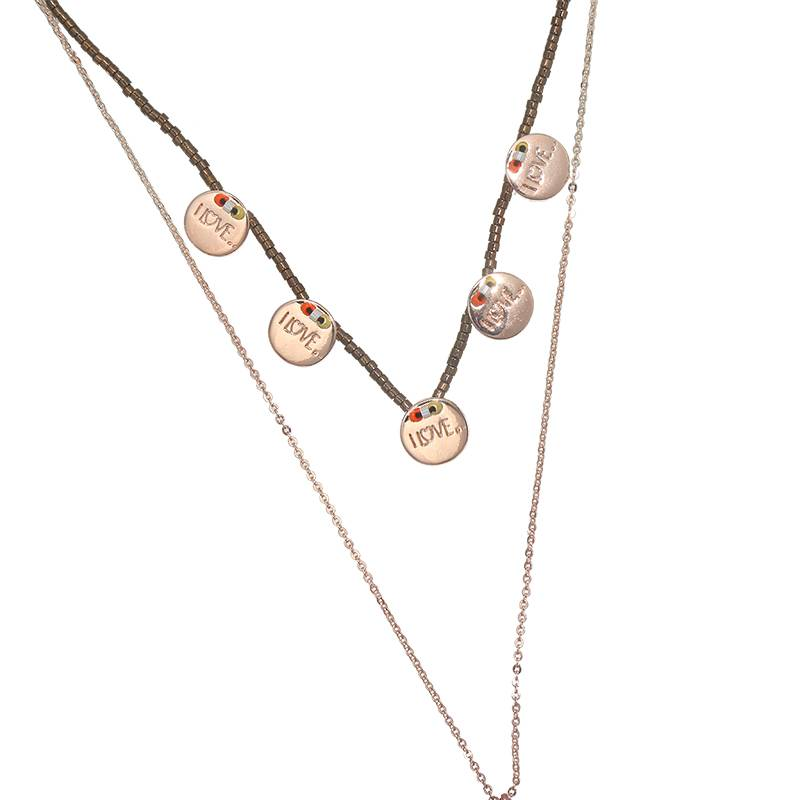 Multilayer coin necklace