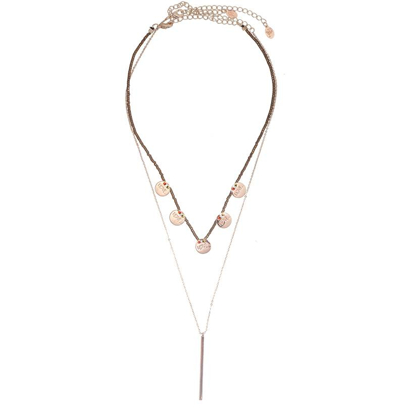 Lovelymusthaves Multilayer coin necklace