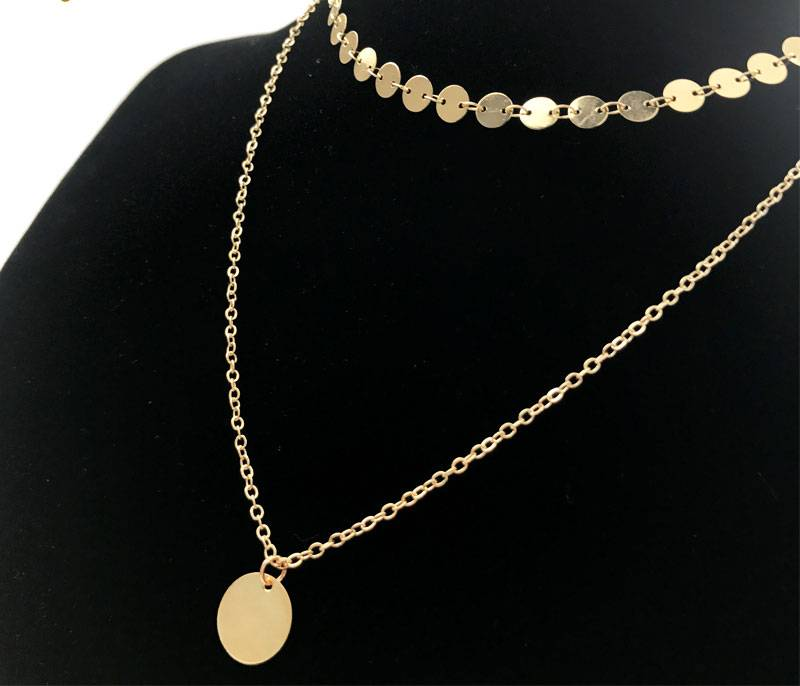 Joboly Layered coin necklace