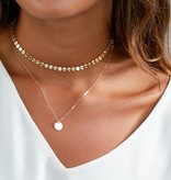 Layered coin ketting