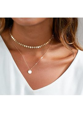 Lovelymusthaves Layered coin ketting