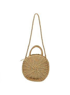 Joboly Round wicker beach bag