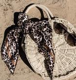 Joboly Round wicker beach bag