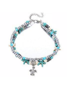 Beaded boho starfish anklet
