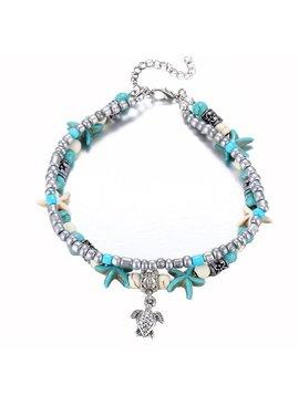 Lovelymusthaves Beaded boho starfish anklet