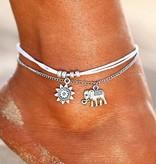 Lovelymusthaves Boho olifant enkelbandje