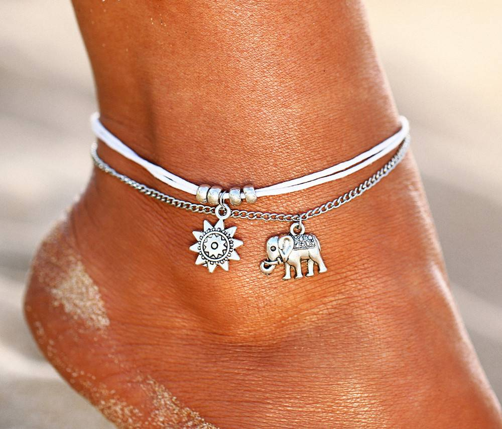 Joboly Boho elephant ankle strap
