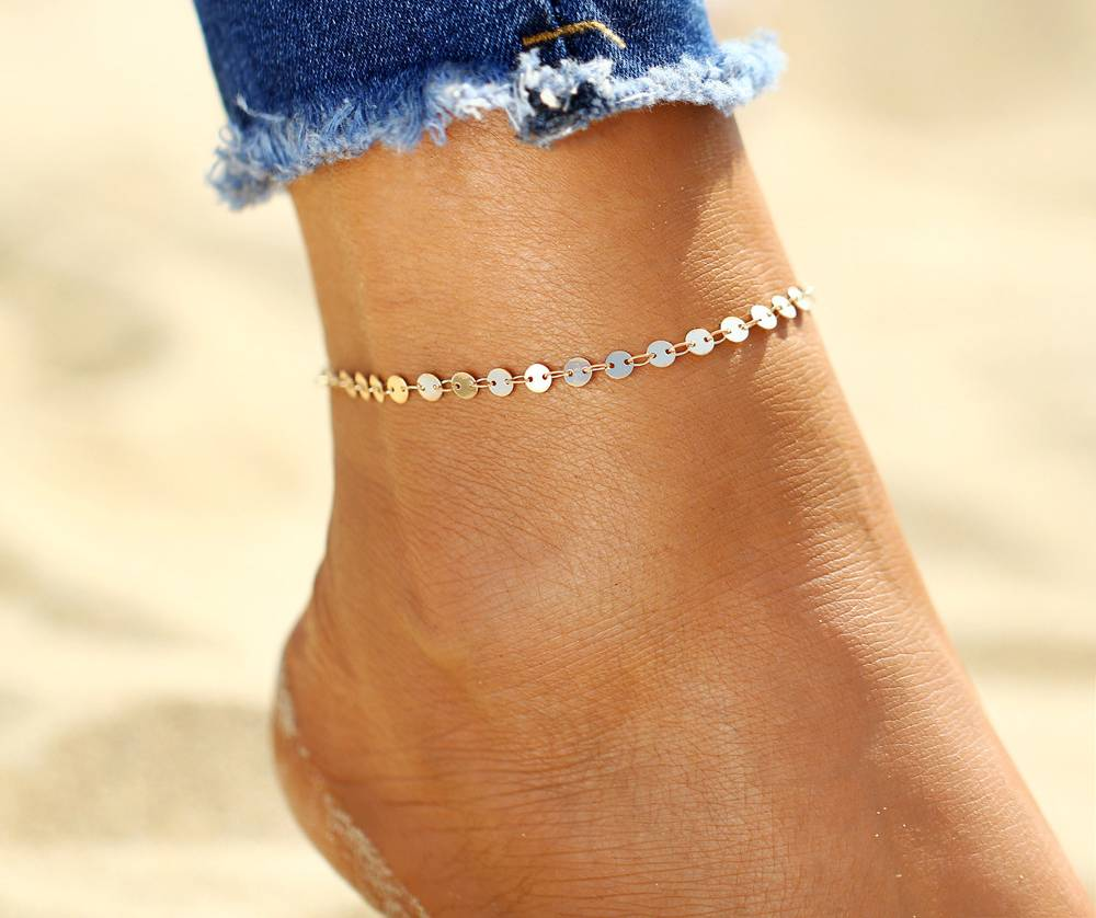 Lovelymusthaves Coin ankle strap