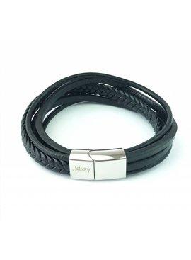 Joboly Joboly Jewelry Multilayer Armband Leder - Herren