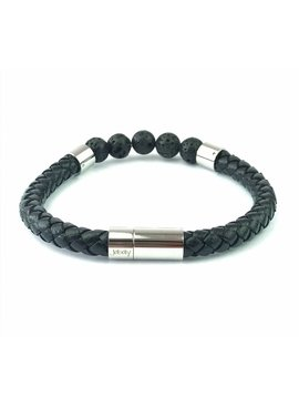 Joboly Joboly Jewelery Bracelet Leather and Lava Stone - Gentlemen
