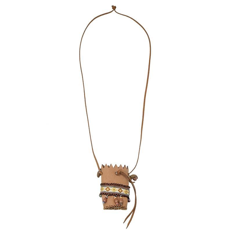 Joboly Ibiza boho necklace with a bag