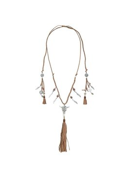 Ibiza boho buffalo necklace with charms