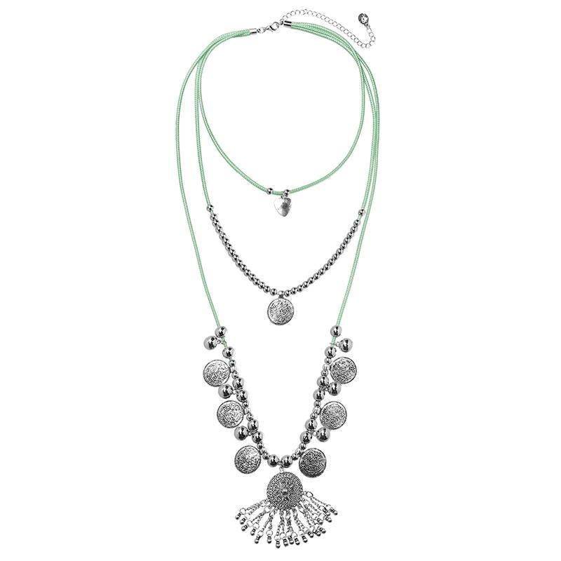 Lovelymusthaves Ibiza boho multilayer necklace with coins