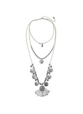 Joboly Ibiza Boho Multilayer Halskette mit Münzen