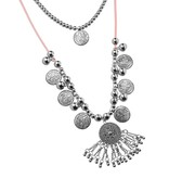 Joboly Ibiza boho multilayer necklace with coins