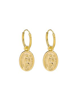Lovelymusthaves Earrings with a coin