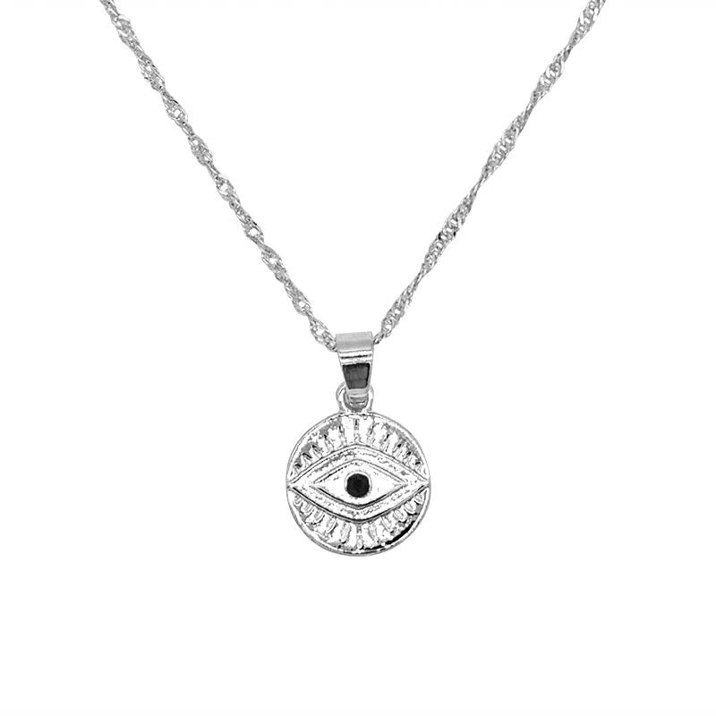 Joboly Coin eye vintage necklace