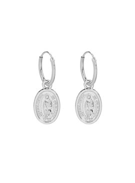 Earrings with a coin