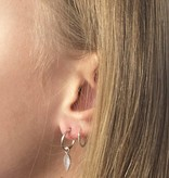 Joboly Joboly Sieraden Oorbellen Leaf - Dames - oorknopjes 925 zilverkleurig