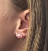 Joboly Sieraden Oorbellen  Dichte Cirkel - Dames - oorknopjes 925 zilver