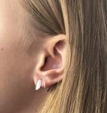 Joboly Joboly Sieraden Oorbellen Veer - Dames - oorknopjes 925 Zilver