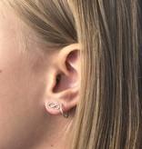 Joboly Joboly Sieraden Oorbellen Infinity - Dames - oorknopjes 925 Zilver