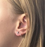 Joboly Jewelery Earrings Moon - Ladies - stud earrings 925 Silver