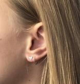 Joboly Joboly Sieraden Oorbellen Driehoek - Dames - oorknopjes 925 Zilver