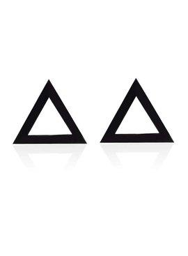 Joboly Zwarte driehoek oorbellen