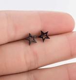 Joboly Zwarte ster oorbellen